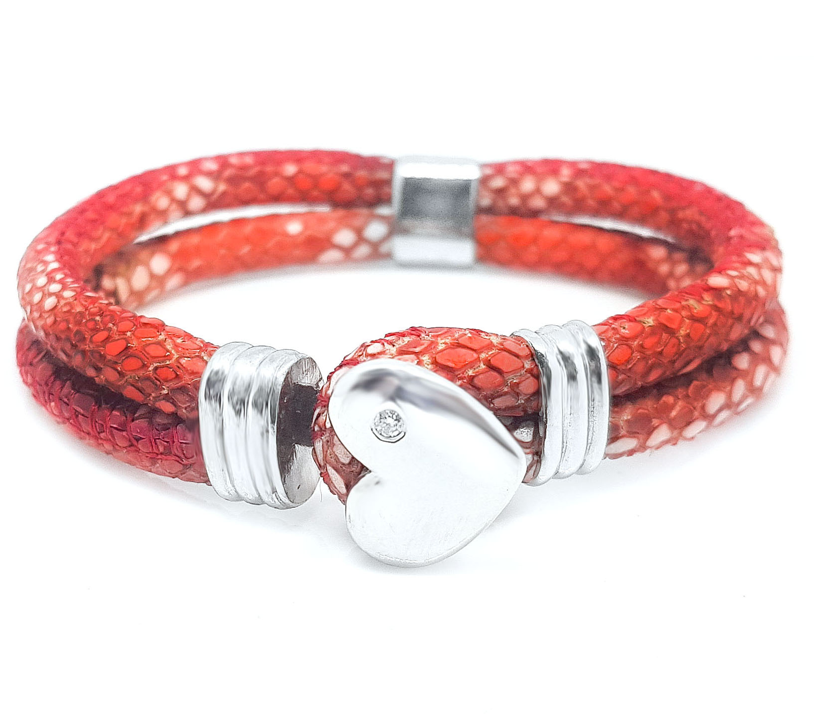 TL HEART Red Snake Diamond